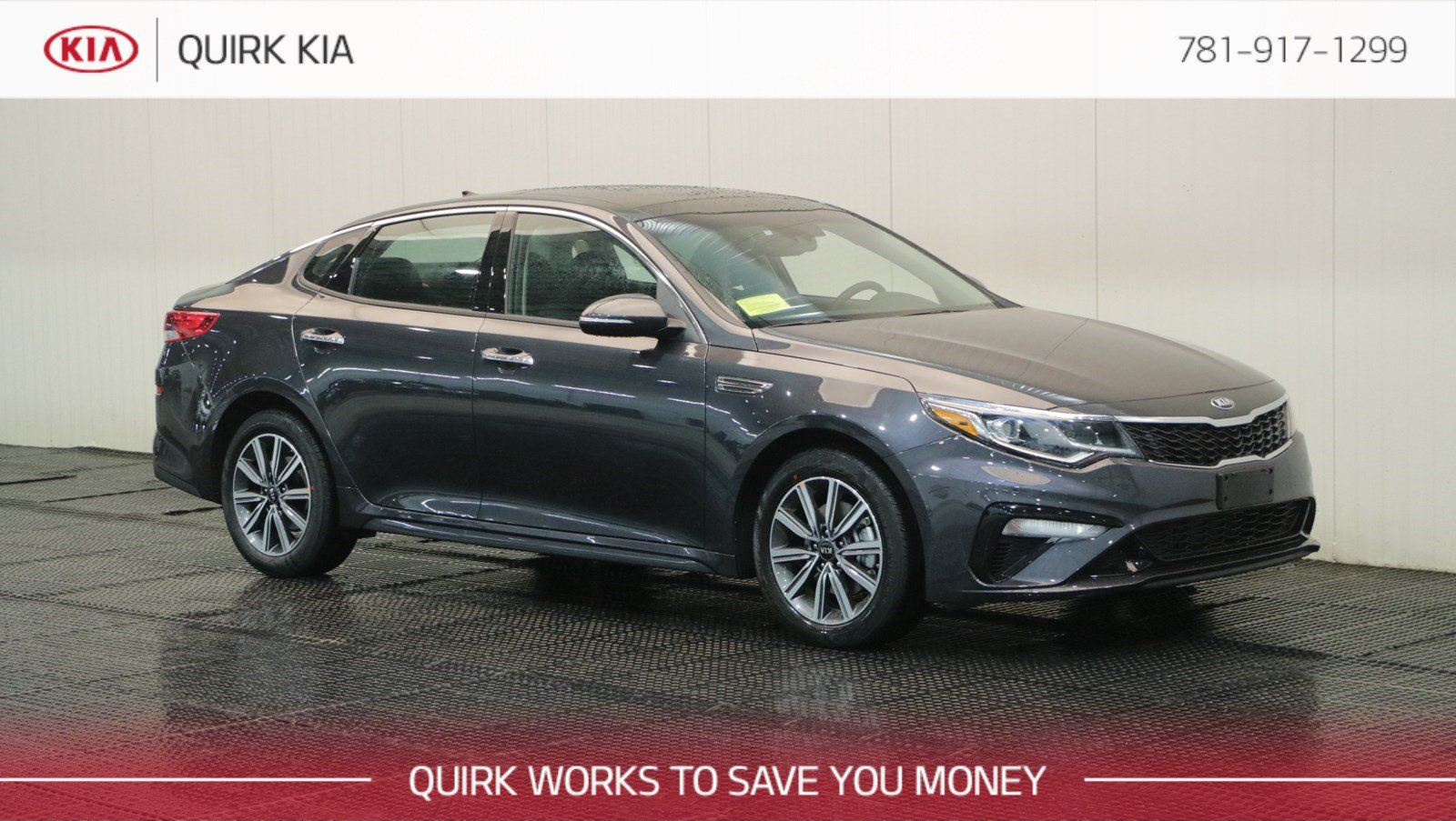 Kia Optima: Parking Brake and Brake Fluid Warning